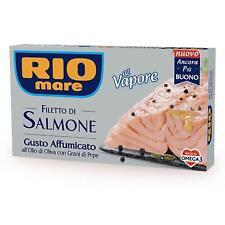 FILETTO DI SALMONE GUSTO AFFUMICATO CON OLIO E PEPE RIO MARE 150 GR AL VAPORE