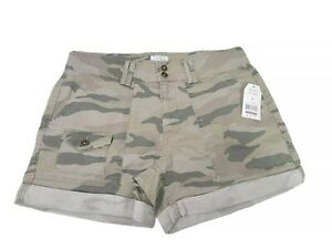 Time and Tru Relaxed Fit Soft Wash Camouflage Utility Shorts Womens Size 4