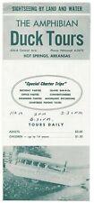 1940's Amphibian Duck Charter Boat Tours Souvenir Travel Guide - Hot Springs, Ak