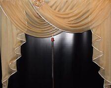 Deko - Gardine, Store, Vorhang in der Farbe gold