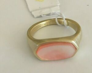 Kendra Scott Mel Ring, Gold Peach Mother of Pearl, Size 8, NWT