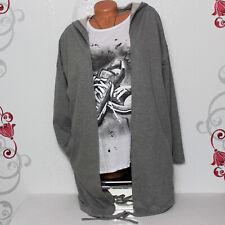 07618c872f302a Damen Vintage Sweat Jacke Longjacke Cardigan Stern 36 38 40 Italy