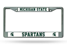 Michigan State Spartans NCAA Chrome License Plate Frame