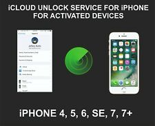iCloud Remote Unlocking Service, For Active devices, iPhone 4, 5, 6, SE, 7, 7+