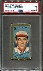 1911 T205 Gold Border Frank Corridon PSA 3 St. Louis Nationals