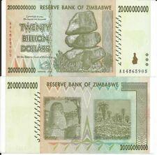 ZIMBABWE BILLETE 20 BILLON DOLARES 2008 P 86
