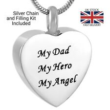 Hero Angel Dad Cremation Urn Pendant Ashes Necklace Funeral Memorial Jewellery