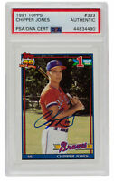 Chipper Jones Signed 1991 Topps #333 Atlanta Braves Baseball Card PSA/DNA