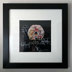 Queen Autographs + Freddie Mercury A Day At The Races Purchased in 2000 + COA