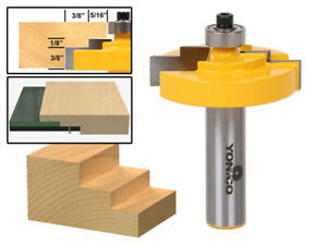 "1/8"" Glass Stepped Rabbet Router Bit - 1/2"" Shank - Yonico 18128"
