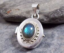925 Silver LABRADORITE Prayer Box Locket Pendant P413~Silverwave*uk Jewellery