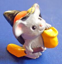 Hallmark Merry Miniatures Halloween New Mouse Witch Vintage Mini Figurine 1989