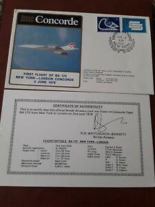 1978 BA CONCORDE FIRST FLIGHT NEW YORK - LONDON UN P/M COVER