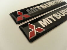 2 Pics small EMBLEM Car Badge MITSUBISHI SPORT RALLY ART EVO evolution JDM