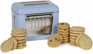 Vintage Marque Blue Toaster Tin with Biscuits