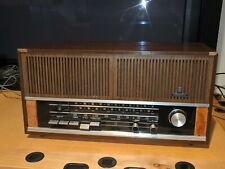VINTAGE GRUNDIG Wood Cabinet Solid State Table AM FM Radio RF121U Works Great!