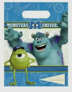 Birthday Party bags, Monsters Inc University Loot Bags Lunch Bags Disney 6 bags