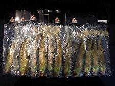 """12 pre-rigged soft plastic fishing lures BRAND NEW 6"""" long tail lure"""