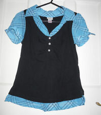 Girls' Collared Checked Short Sleeve Sleeve T-Shirts & Tops (2-16 Years)