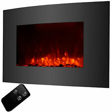 Large 1500W Electric Fireplace Wall Mount & Standing Adjustable Heater w/ Remote