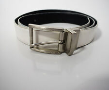 Calvin Klein Originale Double Face Men'S LEATHER BELT BIANCO/NERO