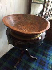 antique, north Indian huge wooden bowl carved inside.