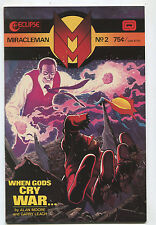 Miracleman #2 Vf/Nm Alan Moore When Gods Cry War Eclipse Comics Cbx13A