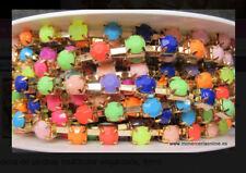 Cadena de piedras multicolor engarzada, 8mm