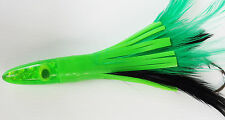 """7"""" Tuna Feather. Rigged with Stainless Hook. TUNA!!!! Bluefin, Yellowfin, Albys"""