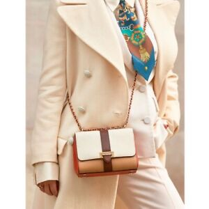 £450 Aspinal Of London Lottie Bag, Beige Pebble Leather Crossbody Bag, NEW