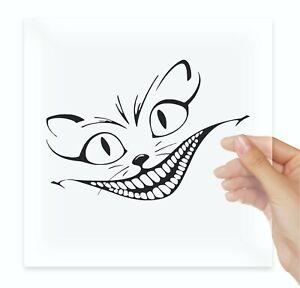 Alice In Wonderland Cat Smile Stencil Fun Vinyl Stickers Decals Car