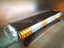 "56 LED 30"" Amber/White Security Flash Beacon Roof Truck Wrecker Strobe Light Bar"
