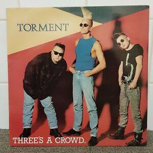 Torment Three's A Crowd Vinyl Album  LP Record Rockabilly Psychobilly 1987 EXC