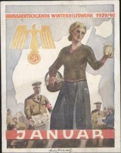 Germany Nazi era WHW large label poster stamp 1939