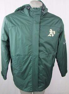 Oakland Athletics Men's L Full Zip 2 In 1 Winter Coat MLB Green