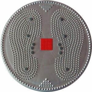 Acupressure Twister Power Mat Big Disc Magnetic Pyramid Treatment Therapy, Grey
