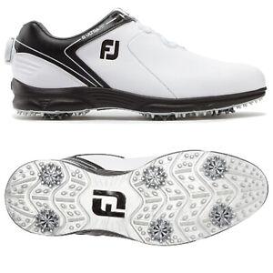 FootJoy Mens UltraFit BOA Golf Shoes Waterproof Leather Upper Lightweight