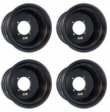 """DWT 14"""" Black Ultimate Front Rear Rims Dune 14x8 14x11 Polaris RZR XP 1000 Turbo"""