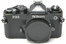 BLACK Nikon FE2 35mm SLR Film Camera Body - Japan
