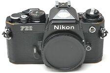 BLACK Nikon FE2 35mm SLR Film Camera Body - Japan