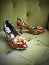 Marie Antoinette/Edwarian/Victorian Costume Heels Shoes, size 9.5