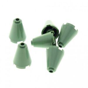 6x Lego Kegel Stein sand grün 2x2x2 Zylinder Set 4709 5378 3450 3942c