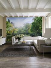 144 x 100 in (ca. 254.00 cm) Carta Da Parati Per Camera Da Letto & Soggiorno pareti PONTE NELLA GIUNGLA VERDE