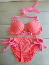 Victoria's Secret Pink GORGEOUS Add 1.5 Cups Bikini Set 32C XS Bombshell SWIM