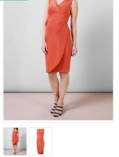ISABELLA OLIVER MATERNITY Hillier apricot V-neck wrap dress Was £159