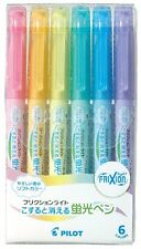 Pilot Frixion Highlighter Light 6 Soft Colour Set New Free Shipping From Japan
