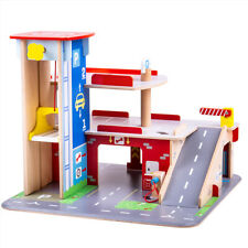 More details for bigjigs toys wooden park & play garage playset