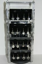 "Revolving Acrylic Earring Display Stand Holds 32 2"" x 2"" cards"