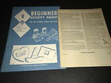 1959 Scripture Press - Beginner Activity Packet for Sunday School and Home