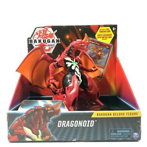 Bakugan Battle Planet Deluxe Action Figure Includes Foil Trading Card Dragonoid